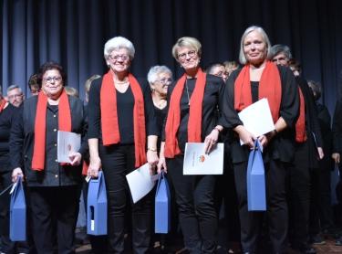 Vom Badischen Chorverband ausgezeichnete Sängerinnen